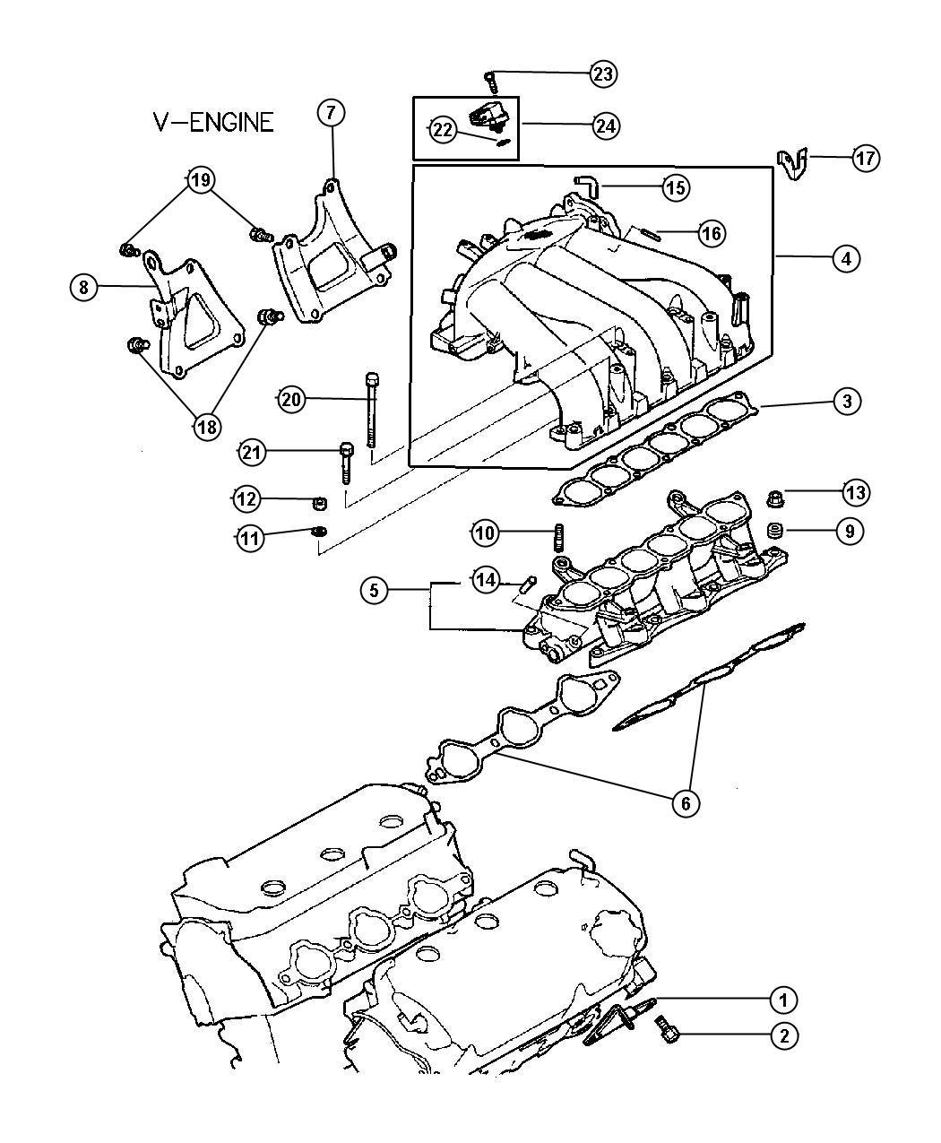 Dodge Avenger Nut Inlet Manifold Engine Electrical