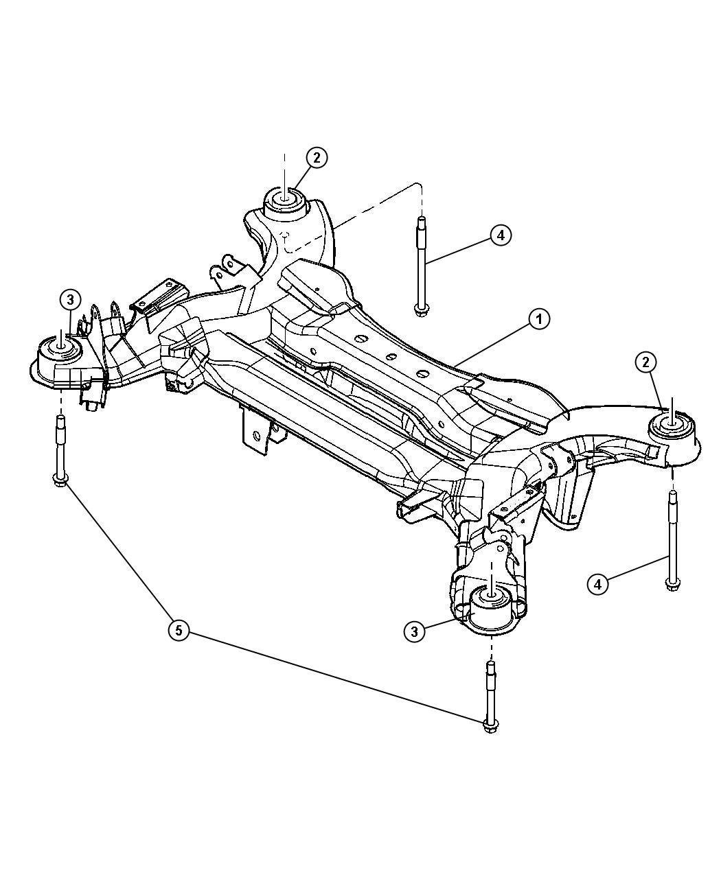 Chrysler Pacifica Isolator Crossmember Rr Suspension Rr