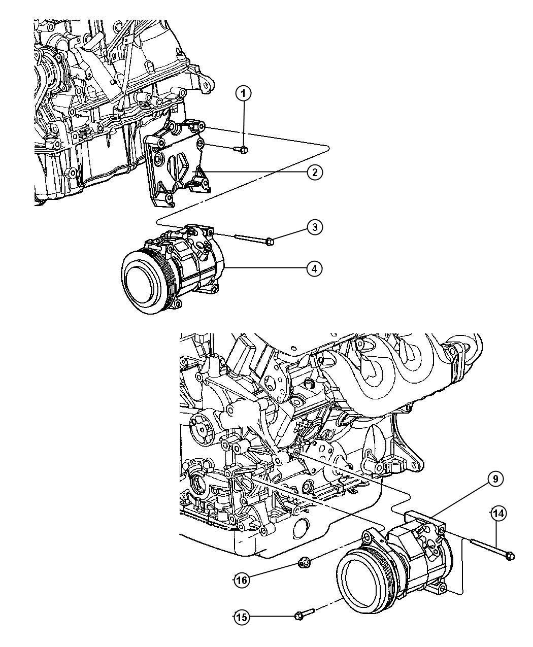 Dodge Caliber Compressor Air Conditioning