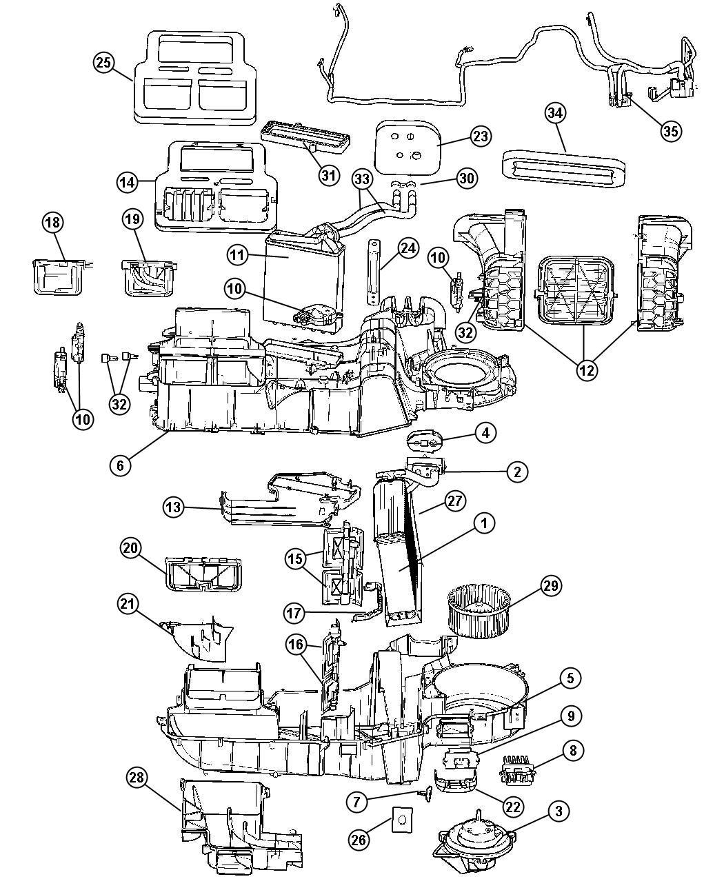 2001 Dodge Dakota Resistor. Blower motor. [air
