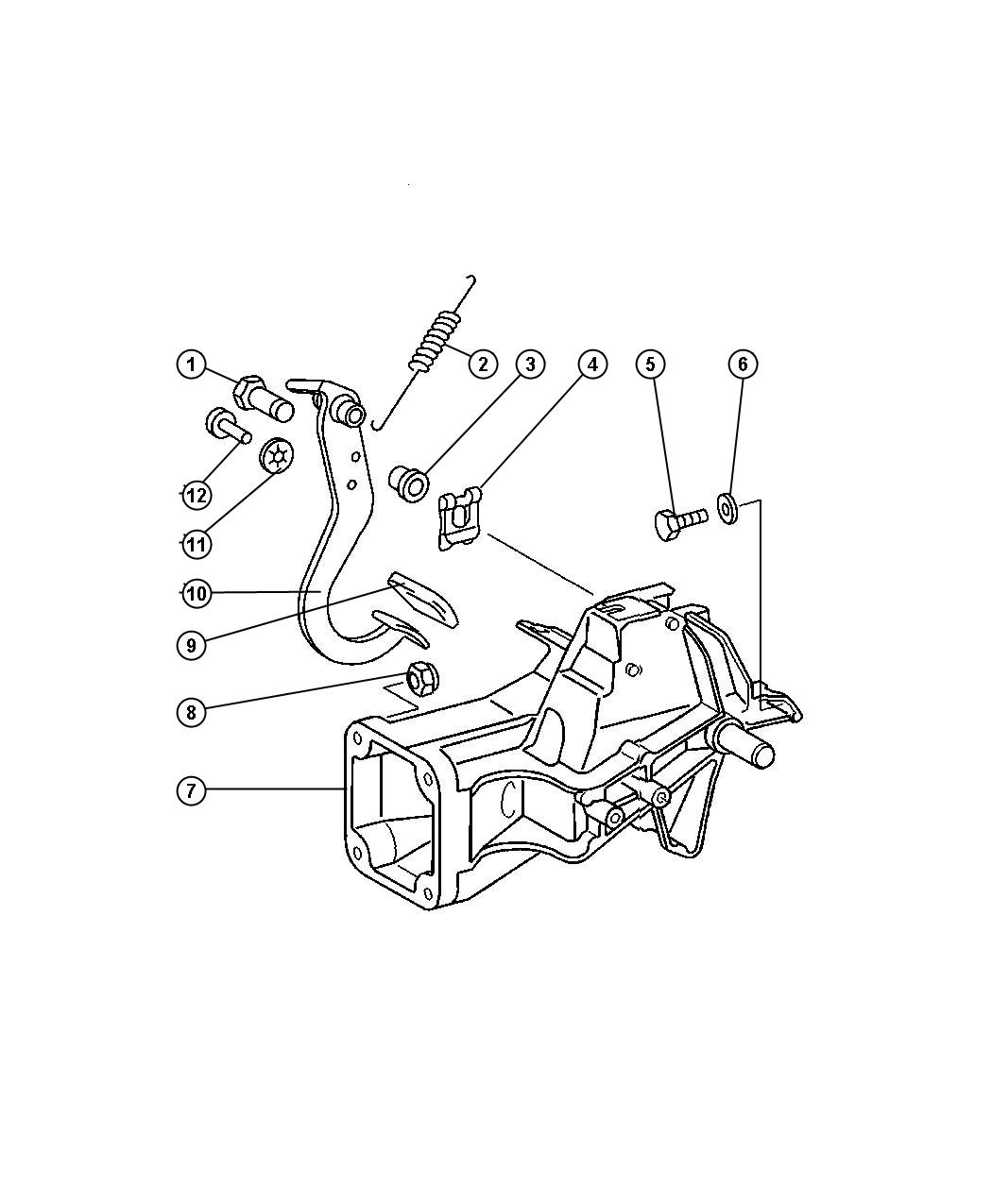 2005 Dodge SPRINTER 3500 Spring. Brake pedal return