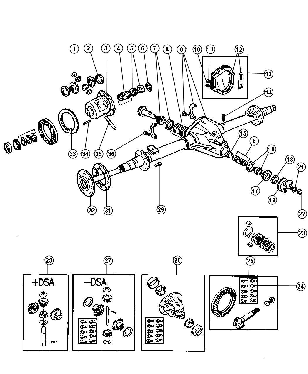 Dodge Ram Seal Drive Pinion With Flange Axle
