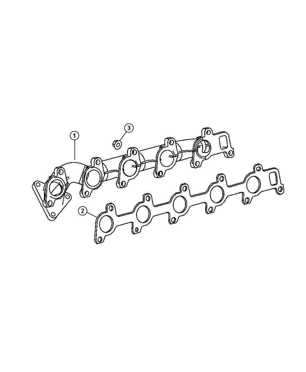 2008 Chrysler Aspen Exhaust Parts Diagram