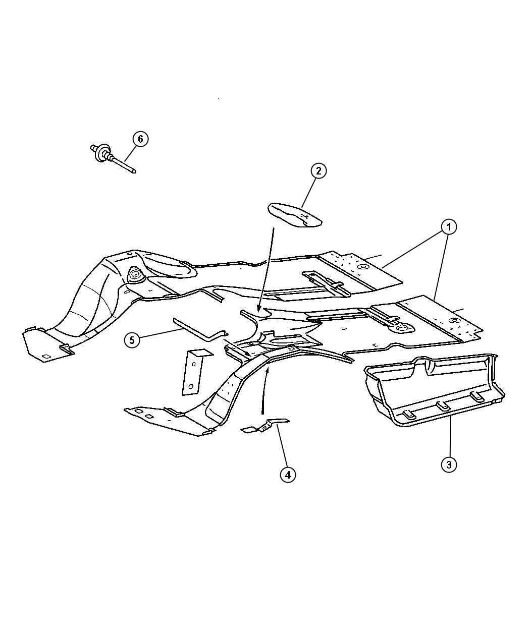 Dodge Sprinter Pad Floor Pan Right