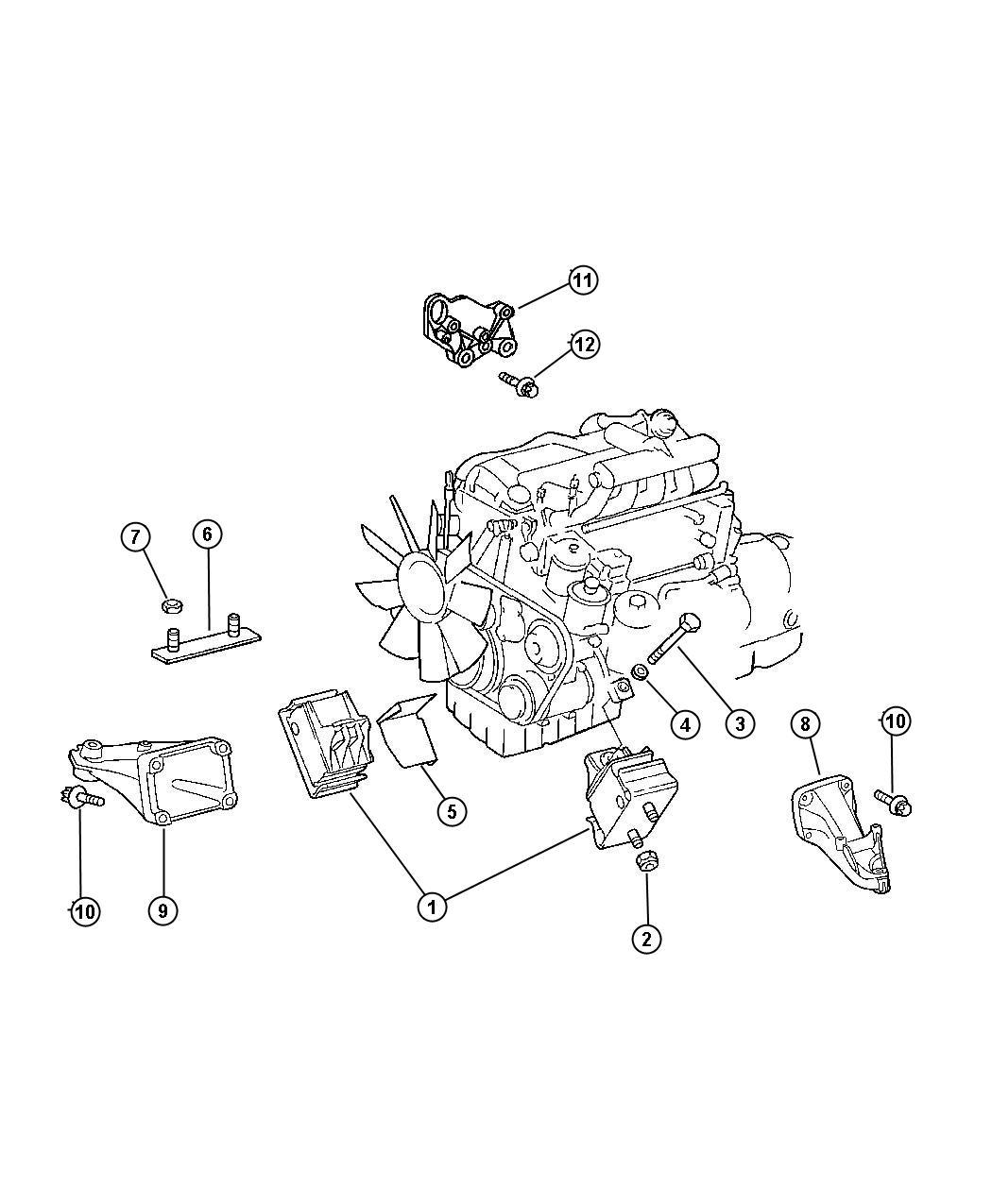 Dodge Sprinter 2500 Shield. Engine mount. Mercedes, turbo