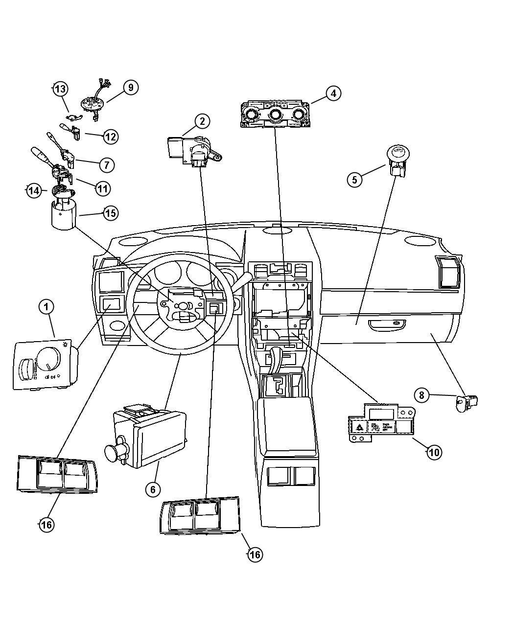 Chrysler 300 Module Steering Control Steering