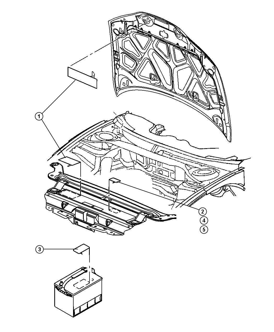 Dodge Magnum Label. Brake fluid warning, master cylinder