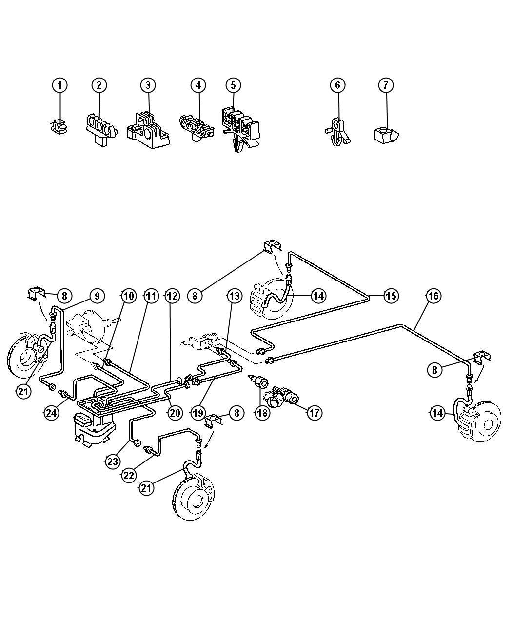 Dodge SPRINTER Hose. Brake. Front, front or rear, right or