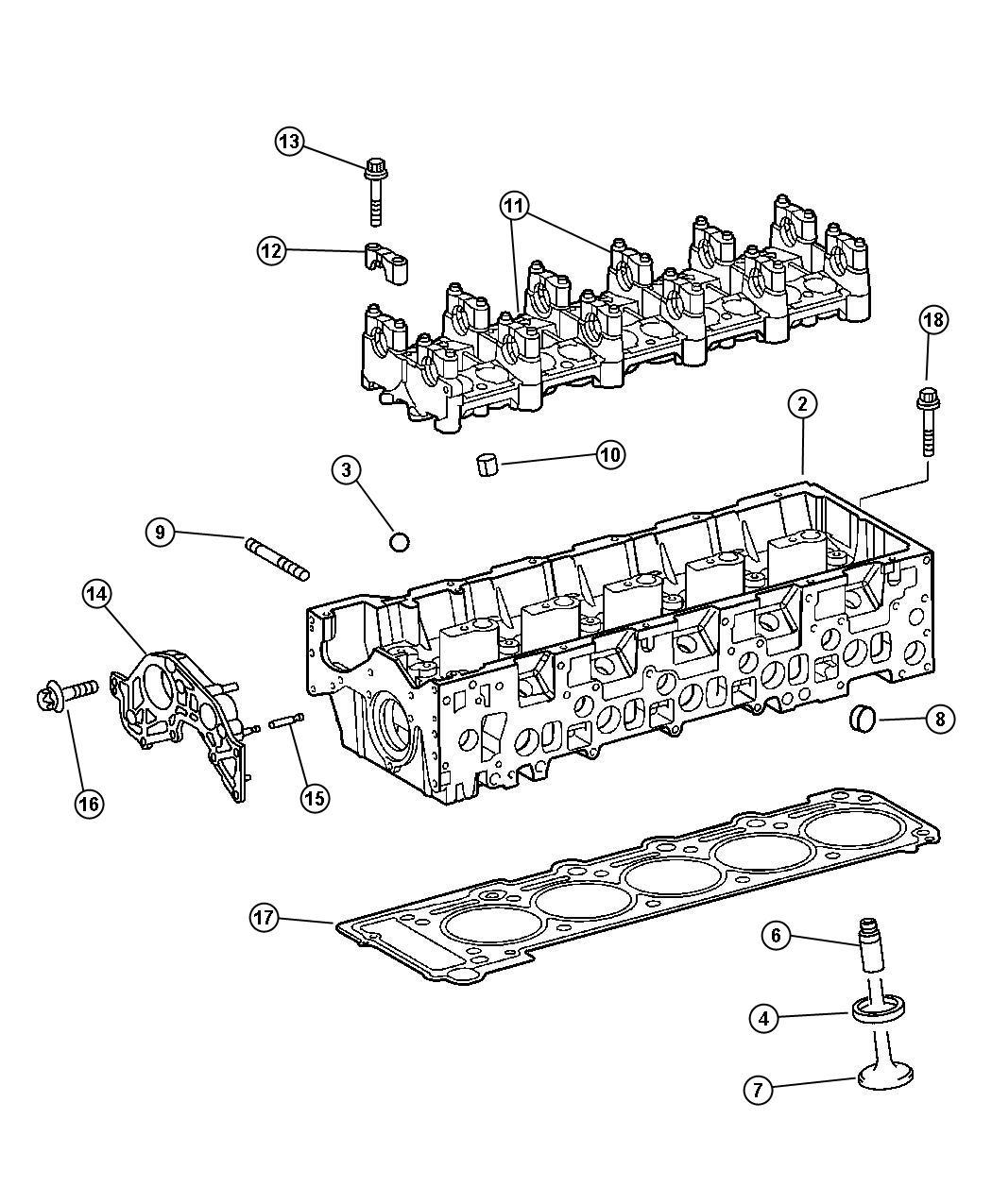 2005 Dodge Sprinter 2500 Seat. Exhaust valve. [30.12mm