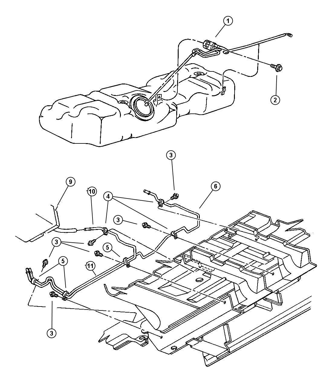 1998 Dodge Caravan Canister. Vapor. Evaporator, vapor