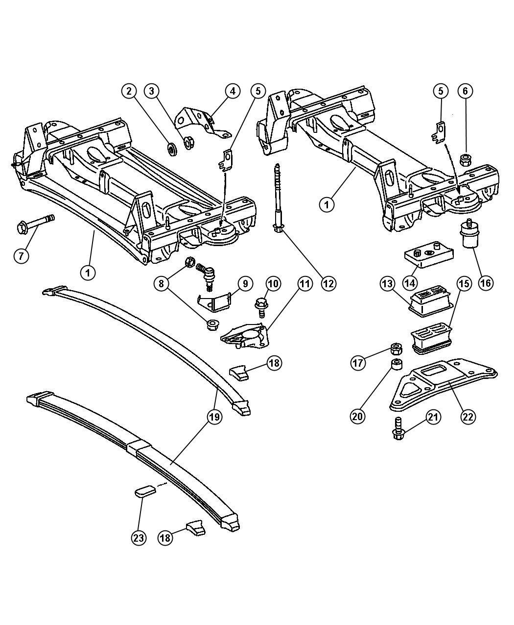 Dodge Ram Plate Suspension Right Spring