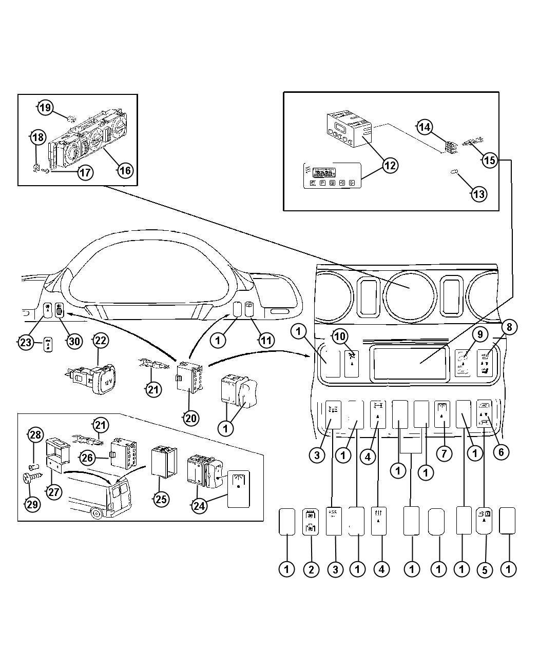 2006 Dodge SPRINTER 3500 Switch. Traction control. Anti