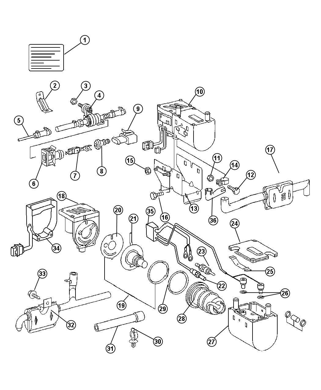 2004 Dodge Sprinter 2500 Heater. Supplemental diesel fuel