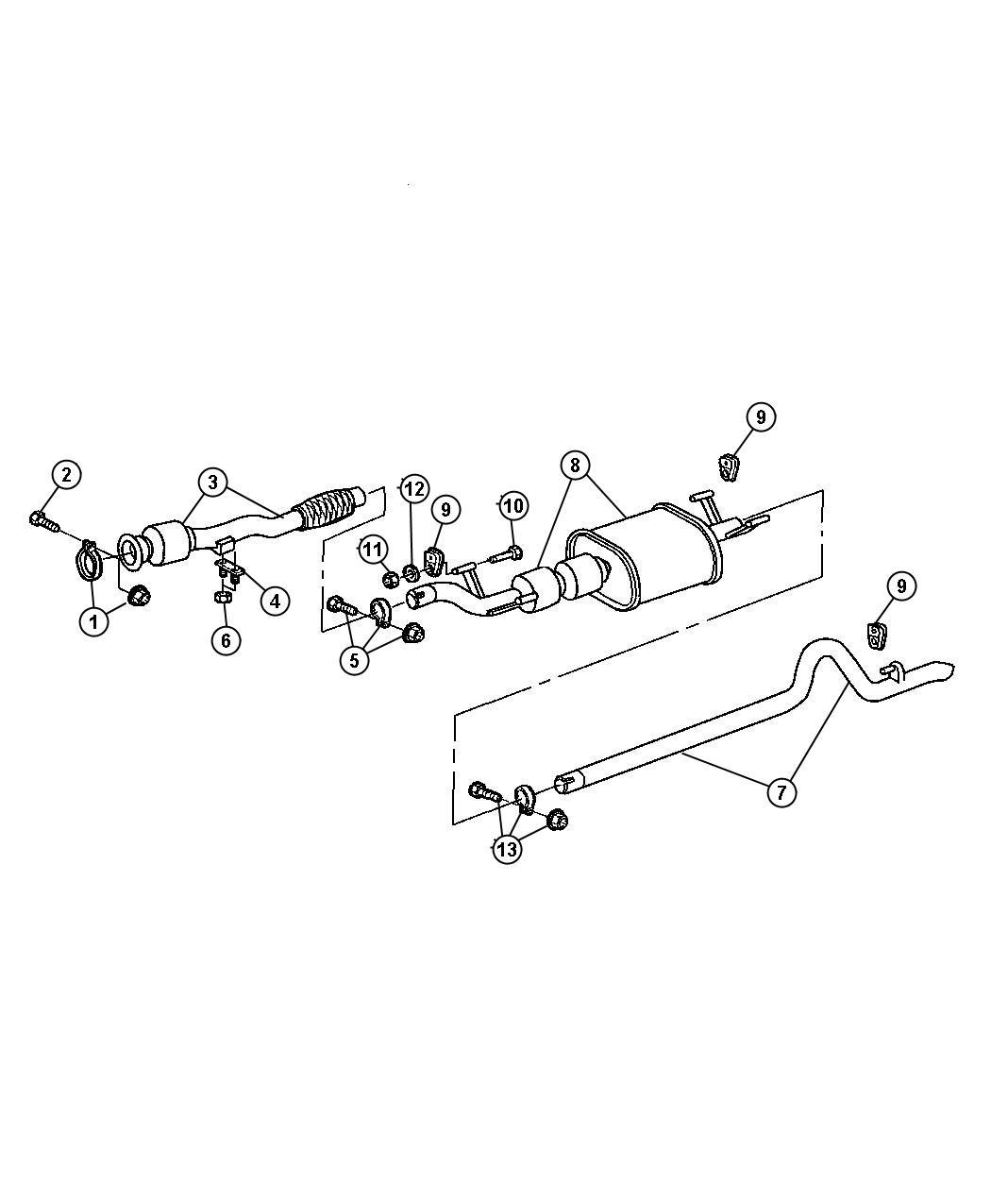 Dodge Sprinter Bracket Exhaust Pipe To