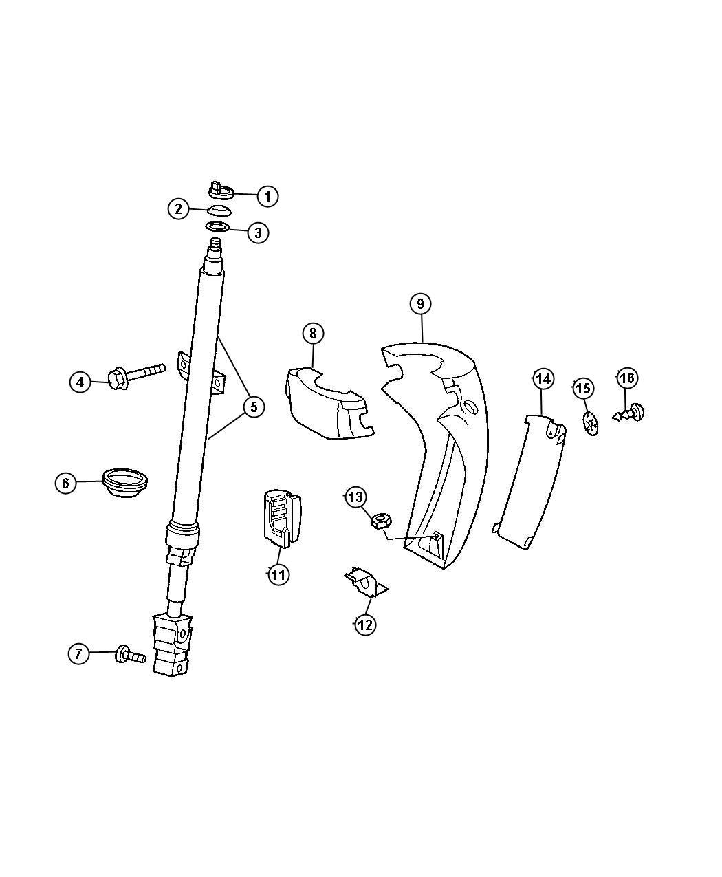 Dodge Sprinter Shroud Steering Column Upper