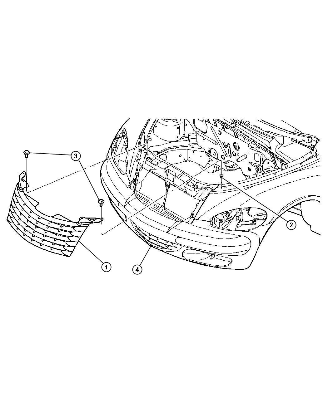 Chrysler Pt Cruiser Grille Lower Cooling Front