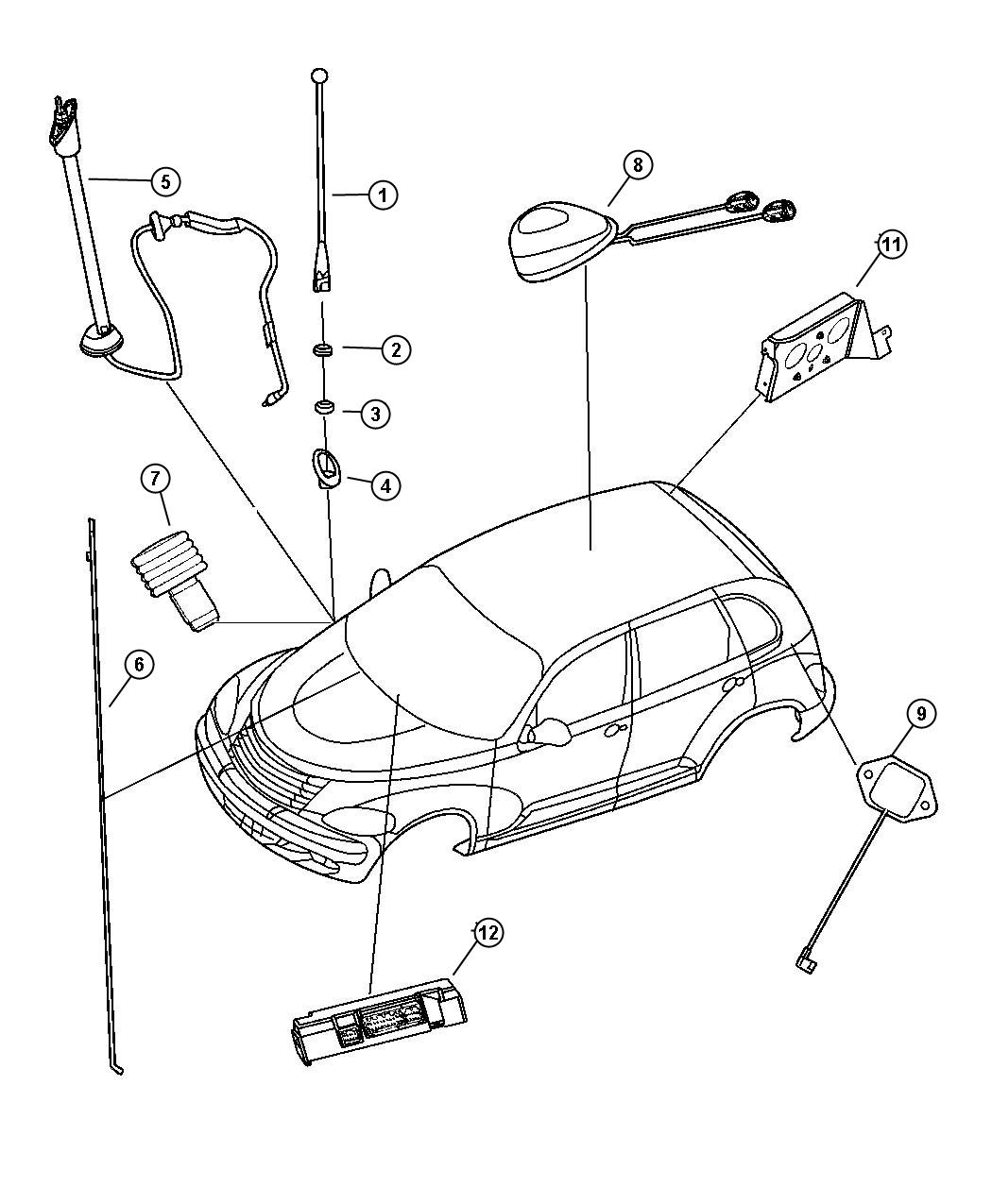 Dodge Neon Base Used For Body And Cable Antenna