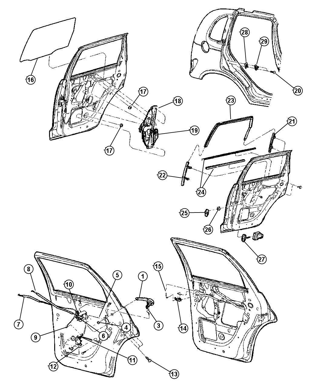 Chrysler Pt Cruiser Motor Left Door Lock With Bracket Rear Power Locks