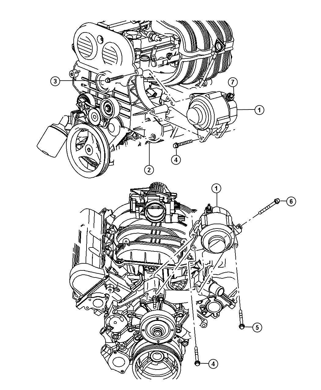 2009 Chrysler PT Cruiser Generator. Engine. Remanufactured