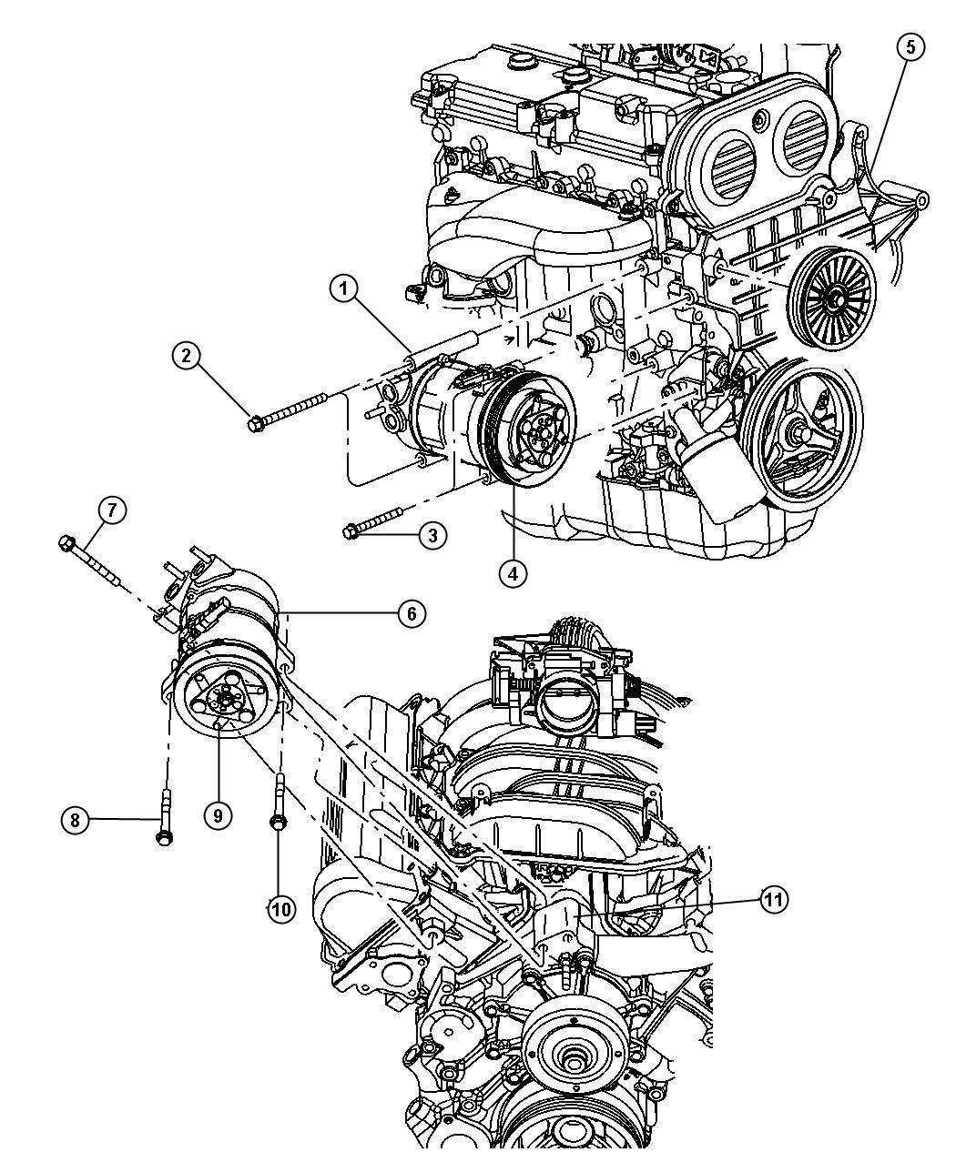 2008 Chrysler Sebring Clutch. A/c compressor. Conditioning