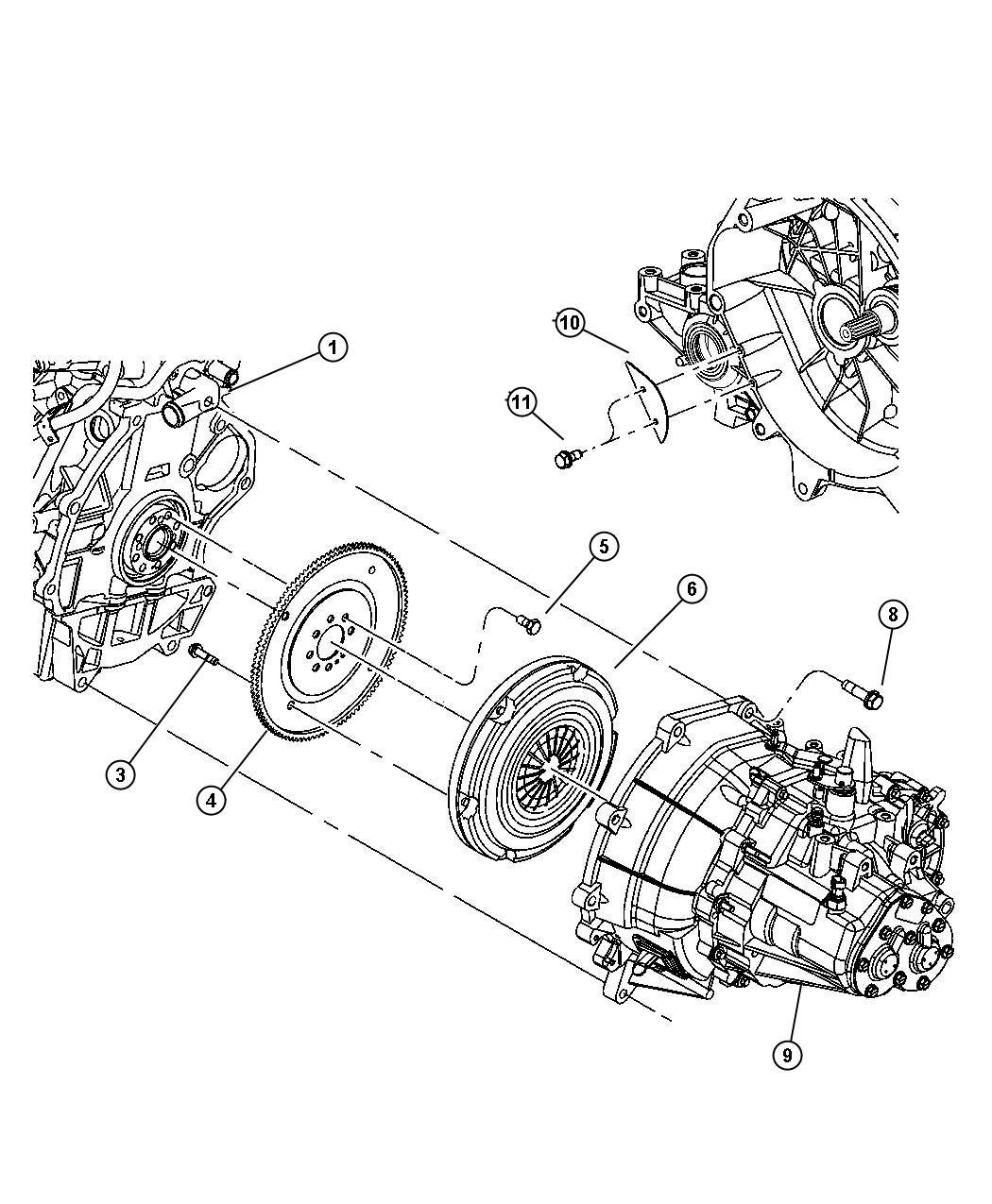 2001 Dodge Neon Plate kit. Clutch pressure. Disc