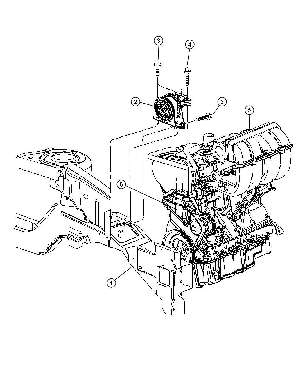 Dodge Caravan Support Engine Mount Edz Mounts