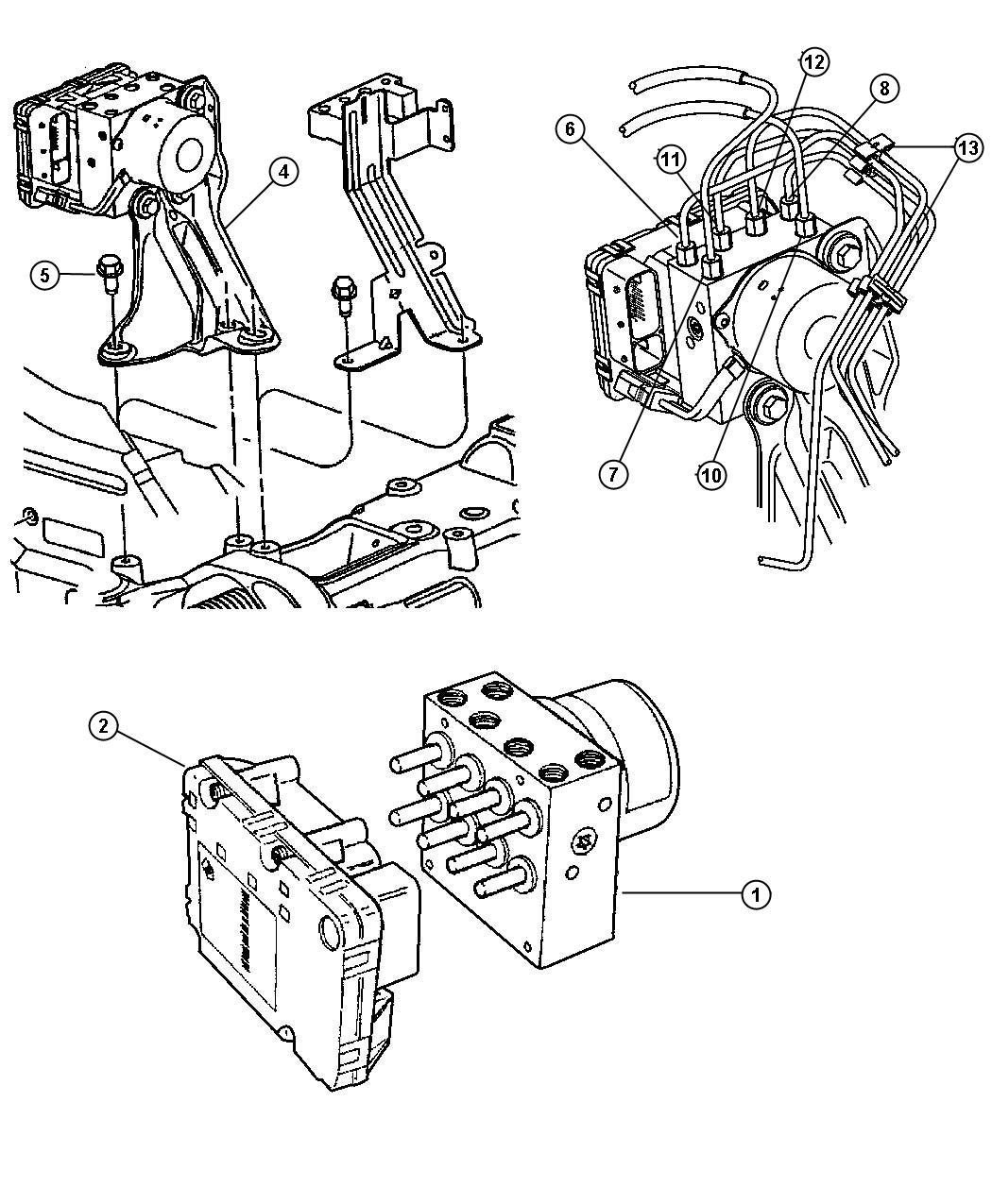 2005 Dodge Grand Caravan Module. Anti-lock brakes. Bnm