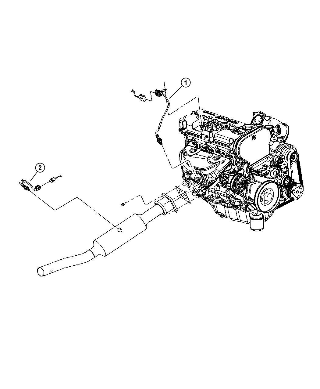 2004 Chrysler Sebring Sensor. Oxygen. Engine, sensors