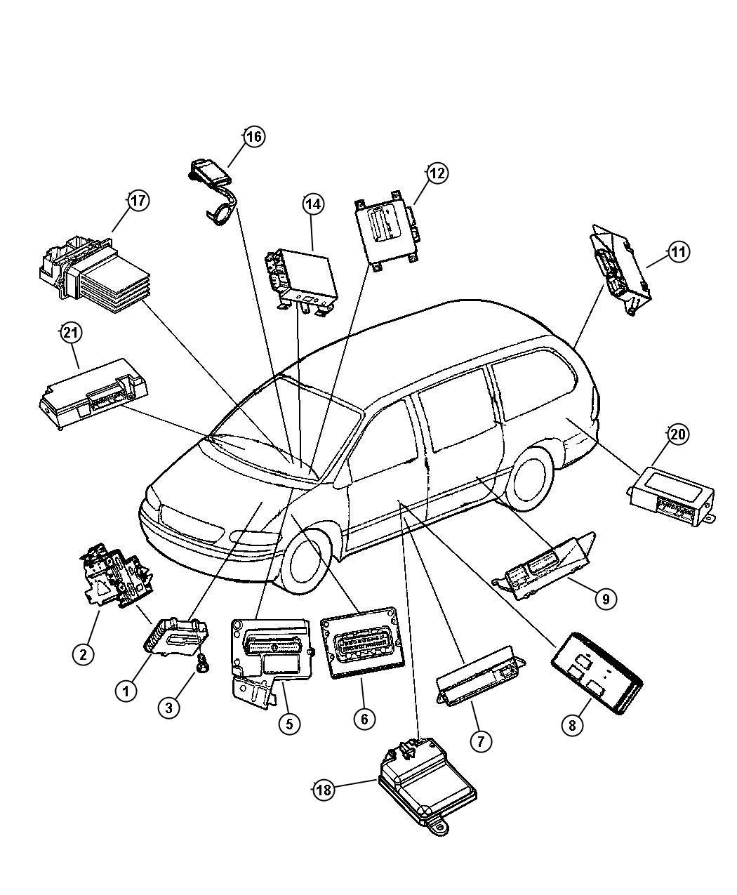 Dodge Grand Caravan Module Anti Lock Brakes Bnm