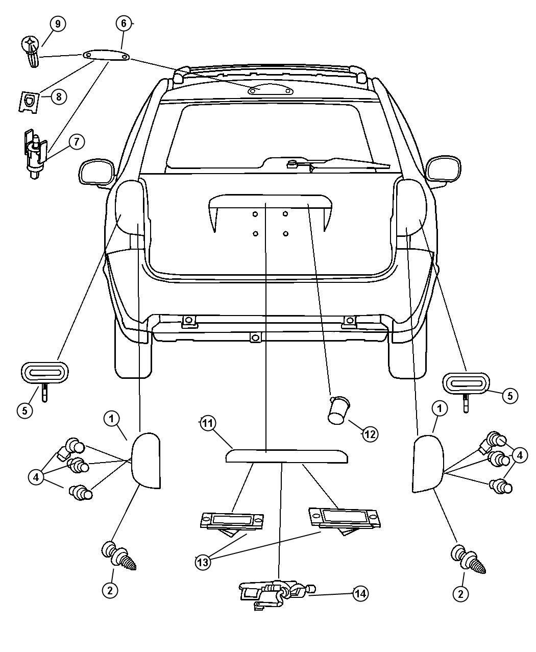 Dodge Ram Lamp Liftgate Chmsl Wiring Fuel