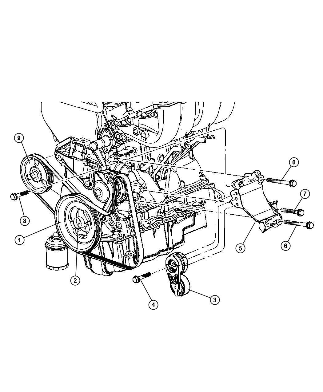 1998 Dodge Durango Damper. Engine vibration. Dohc, timing