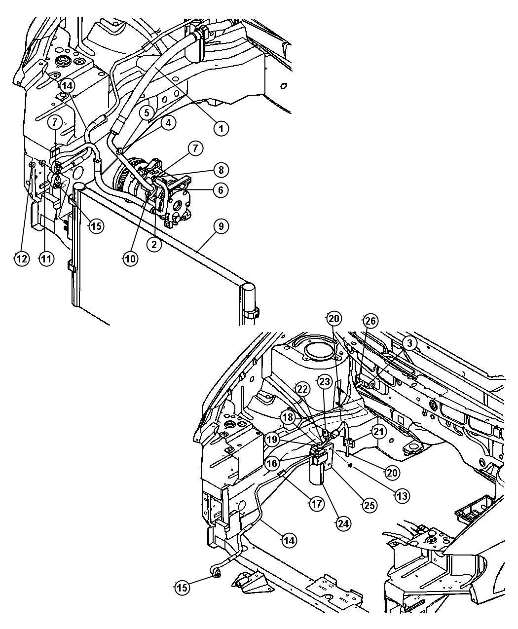 2006 Dodge Caravan Line. A/c liquid. To condenser. [hah