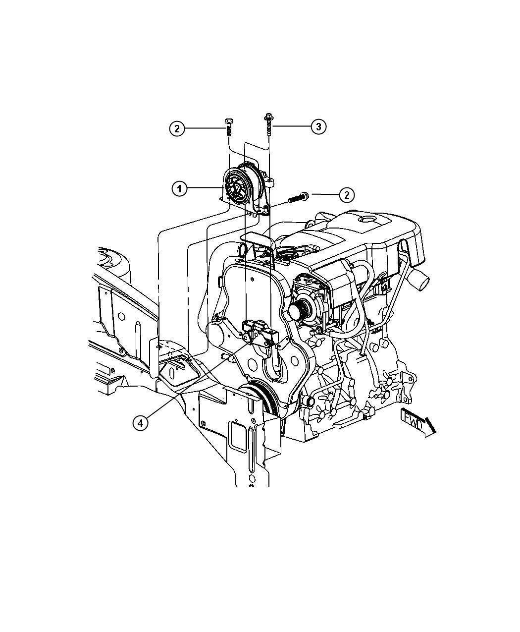 Dodge Caliber Support Engine