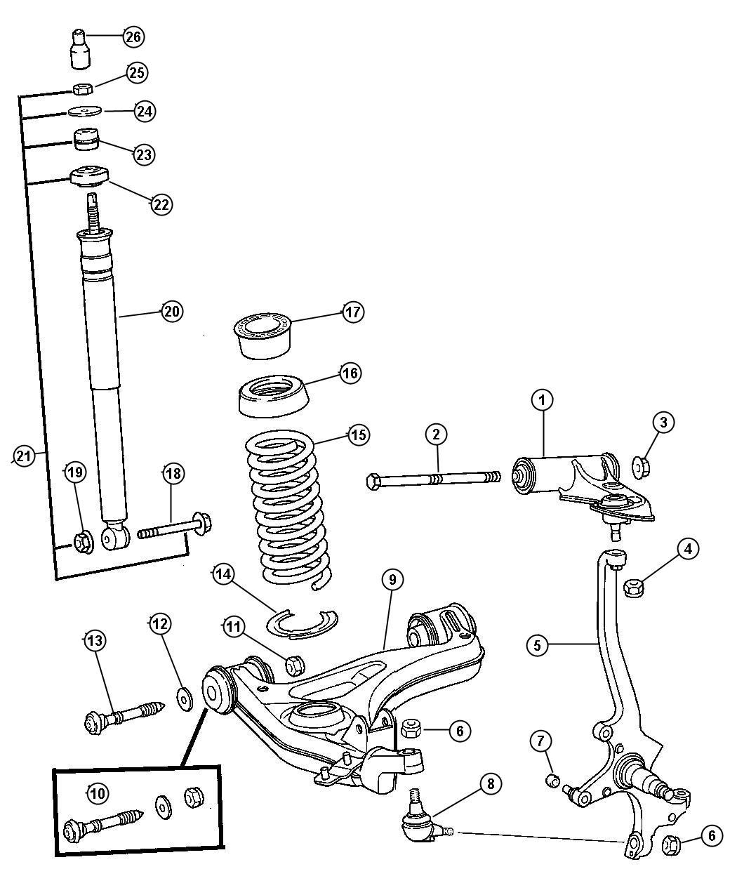 Chrysler Crossfire Nut Hex Suspension