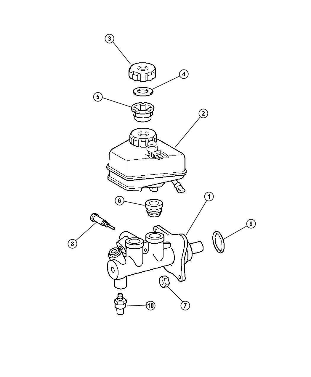 Chrysler Crossfire Sensor. Anti-lock brakes, pressure