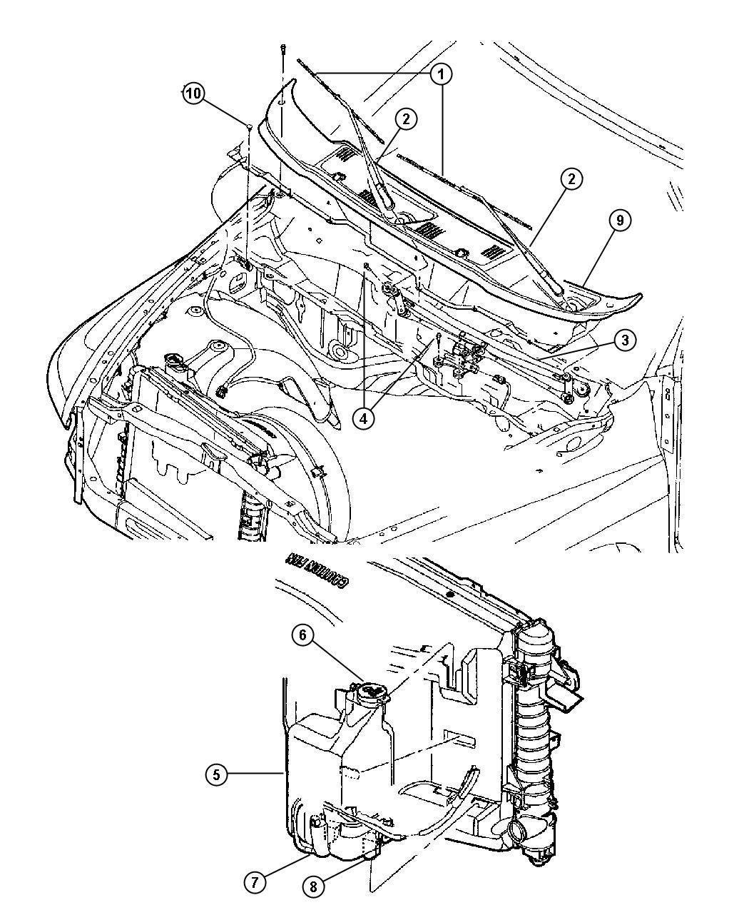 2011 Jeep Patriot Bottle. Coolant reserve & washer fl