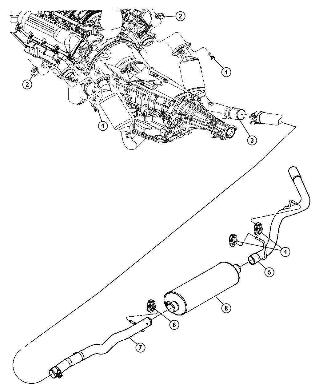 Dodge Avenger Muffler Exhaust System Nameplates
