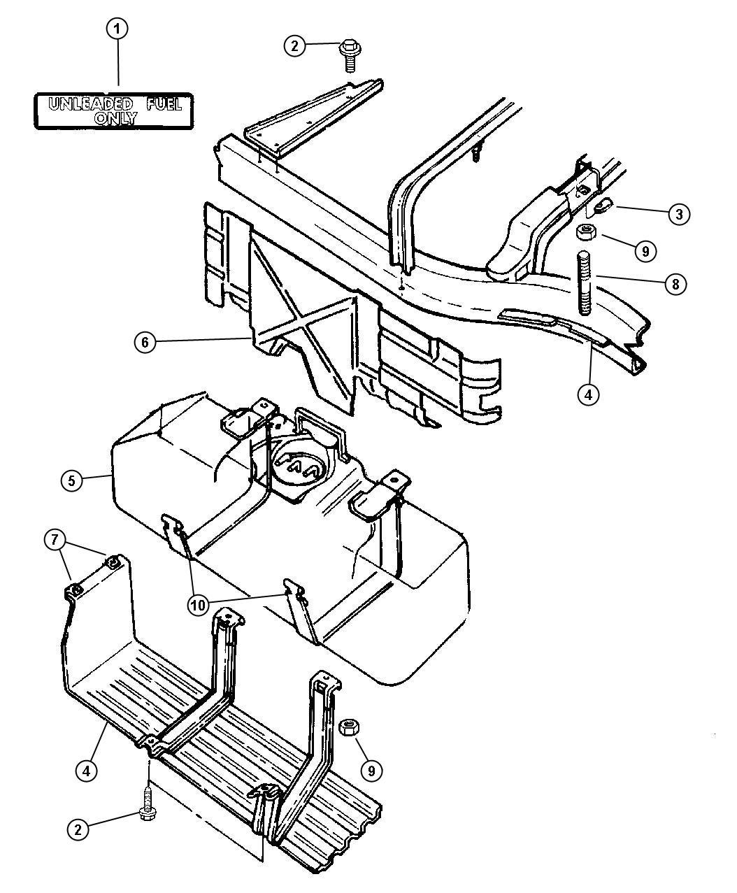 2005 Dodge Dakota Tube. Fuel vapor recirculation. [22
