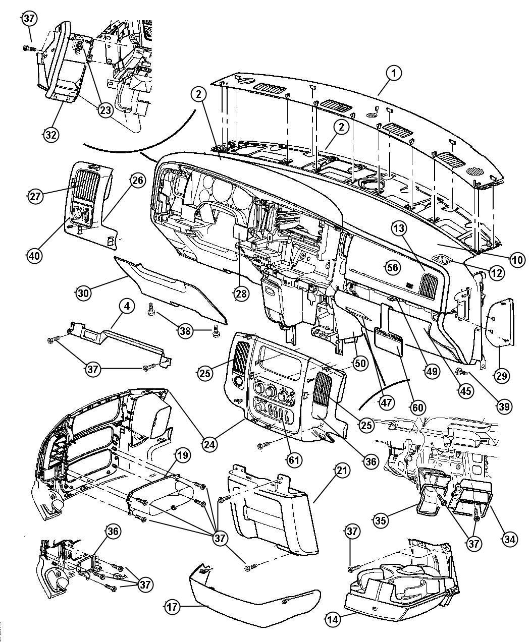 Dodge Ram Bezel Instrument Panel Center Dv Dv