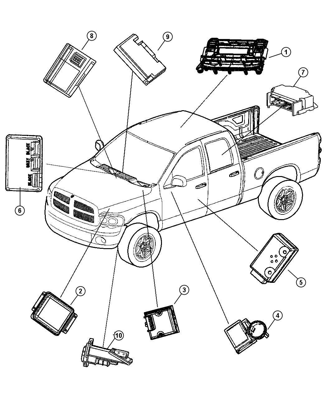 2005 Dodge Ram 3500 Module. Immobilizer. Sentry, key