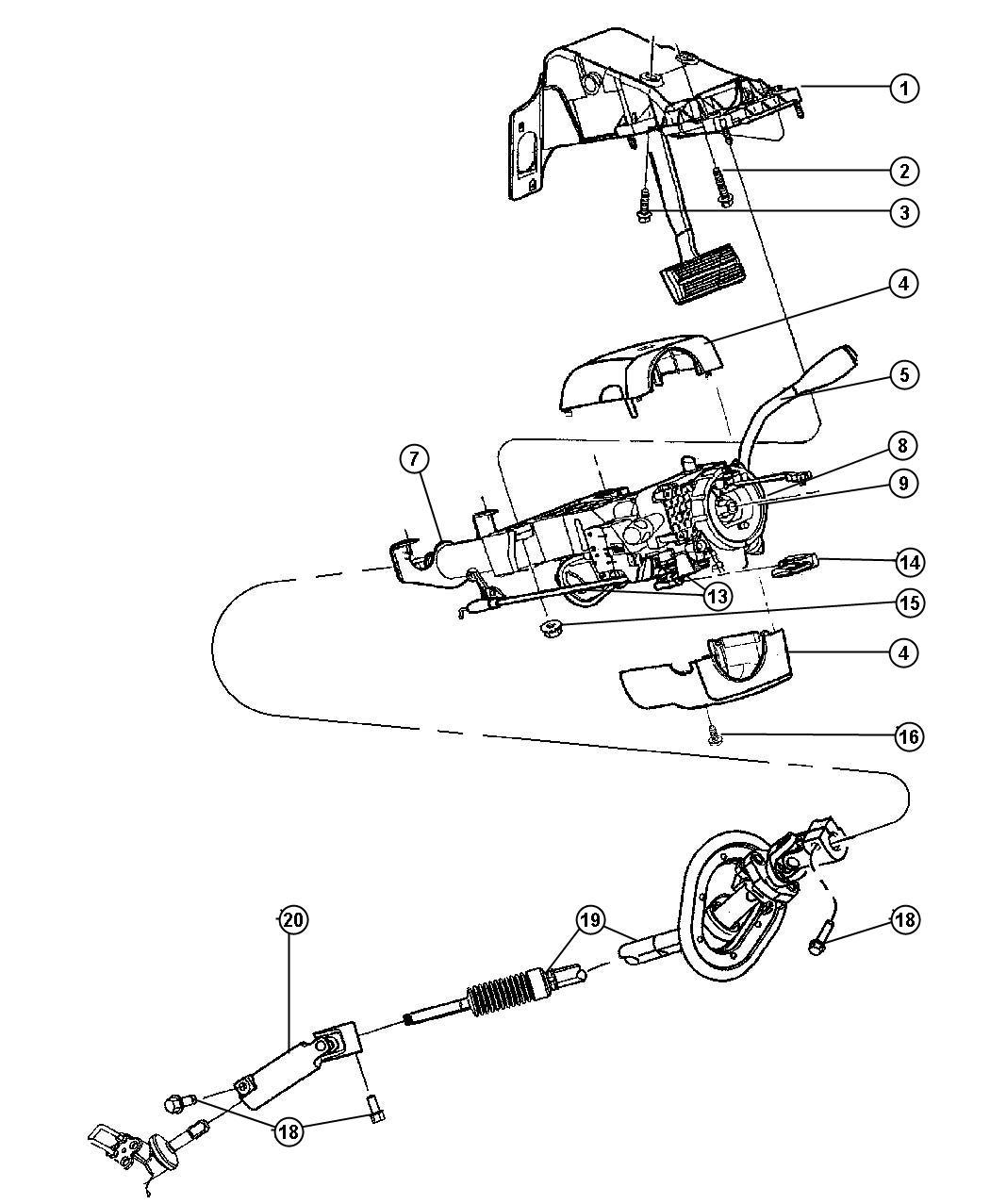 Dodge Magnum Shaft Intermediate Lower Change Upper