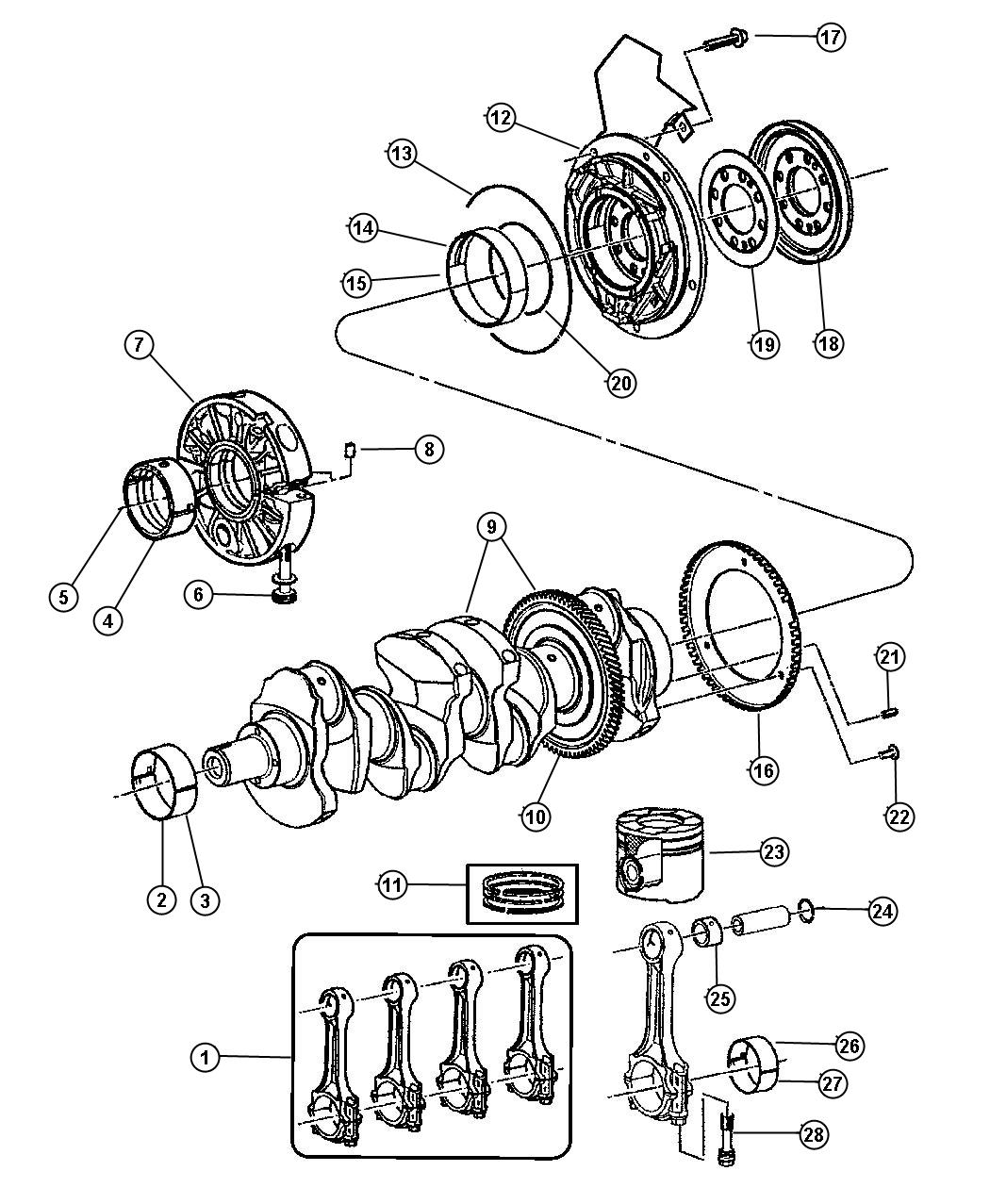 Dodge Magnum Rod Rod Kit Connecting