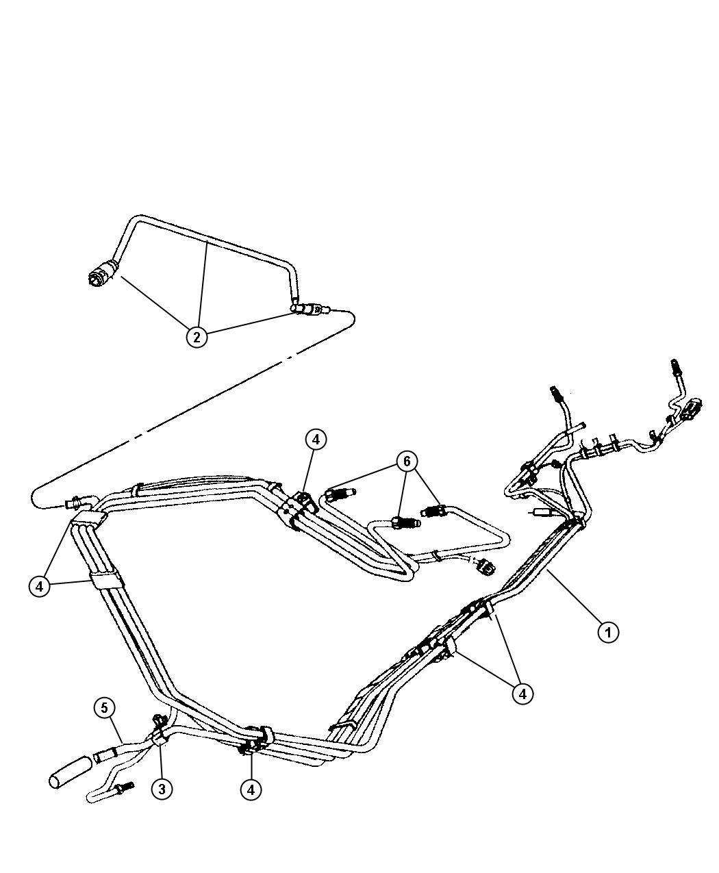 Dodge Neon Tube Fuel Supply Fuel Rail To Chassis