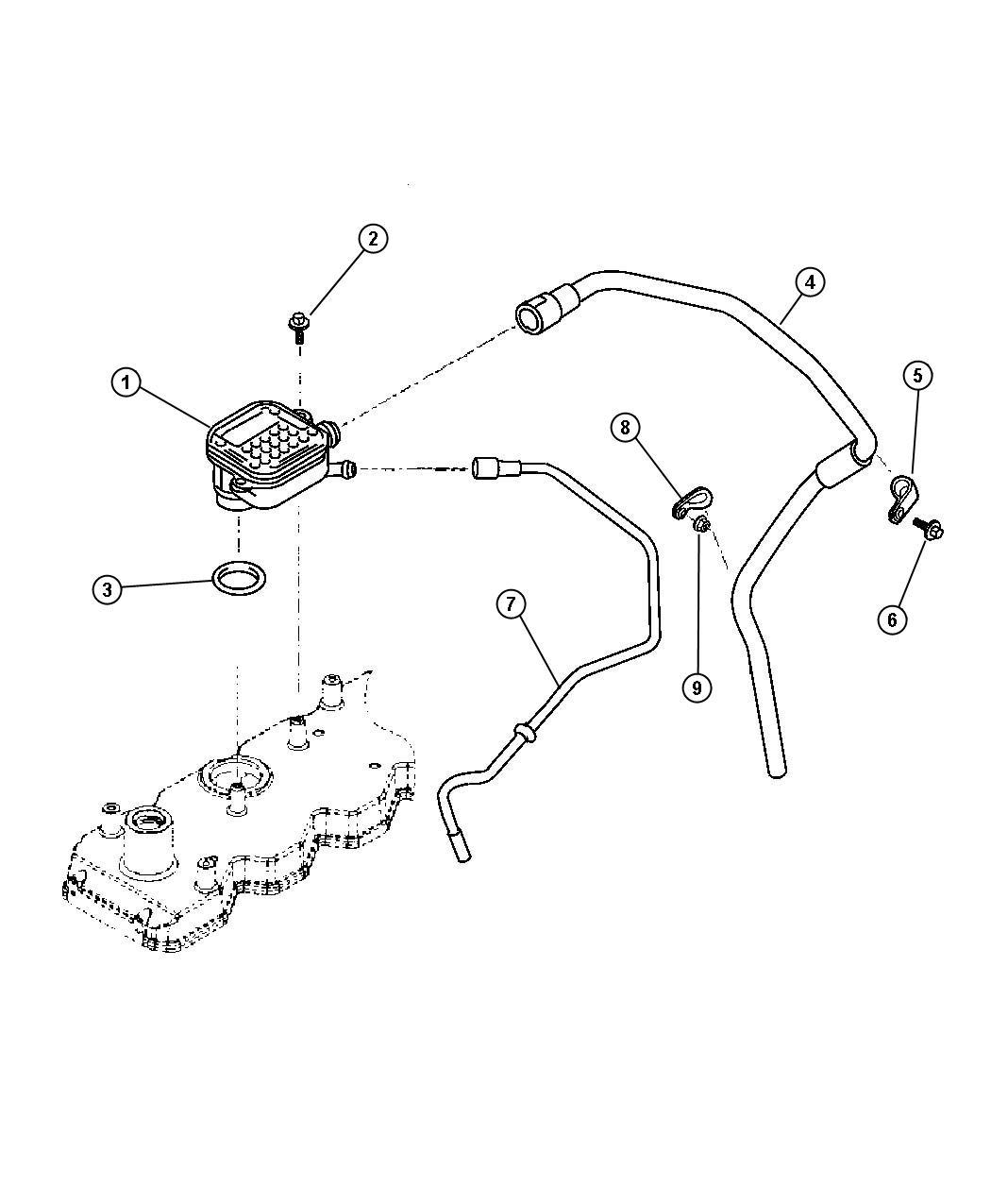 Dodge Ram Tube Breather Emissionssel Export