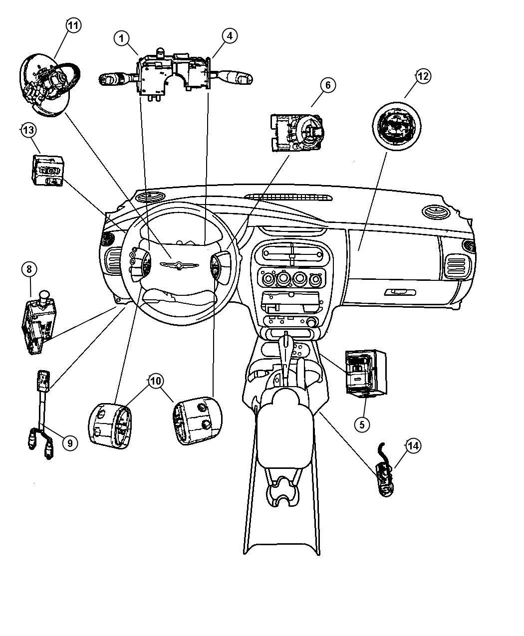 Dodge Neon Switch Ignition Column Steering Tilt