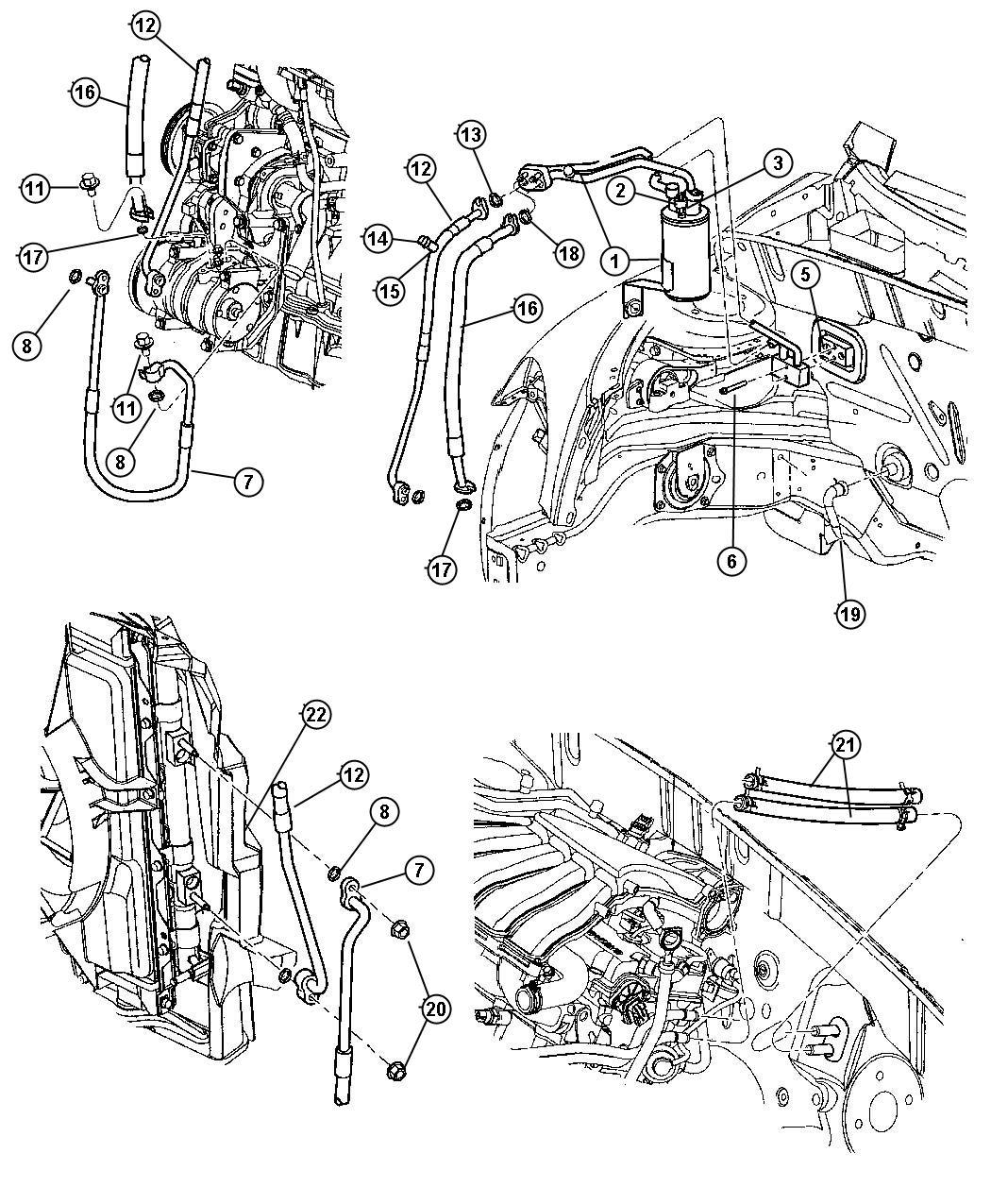 Dodge Ram Hose Heater Core To Tube