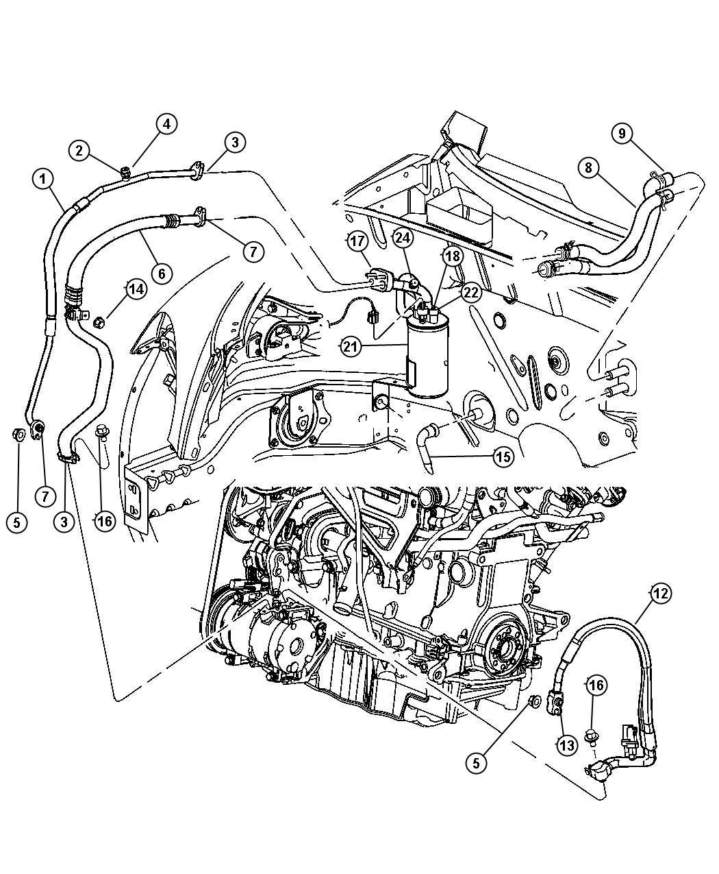 2011 Dodge Challenger Line. A/c suction. Automatic
