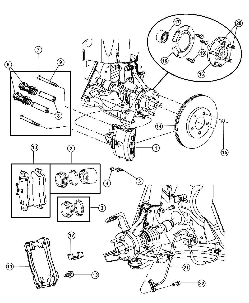 Dodge Stratus Pad Kit Disc Brake Front Disc Brake