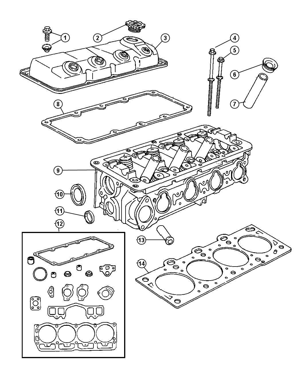 Dodge Neon Cap Oil Filler Head Cylinder