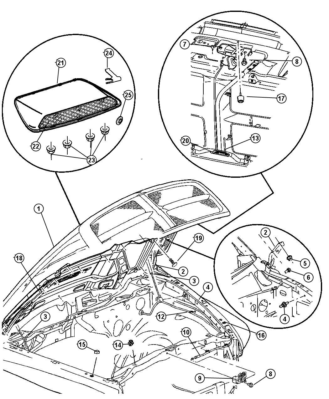 2006 Dodge Ram 1500 Striker. Hood latch. Includes rod clip